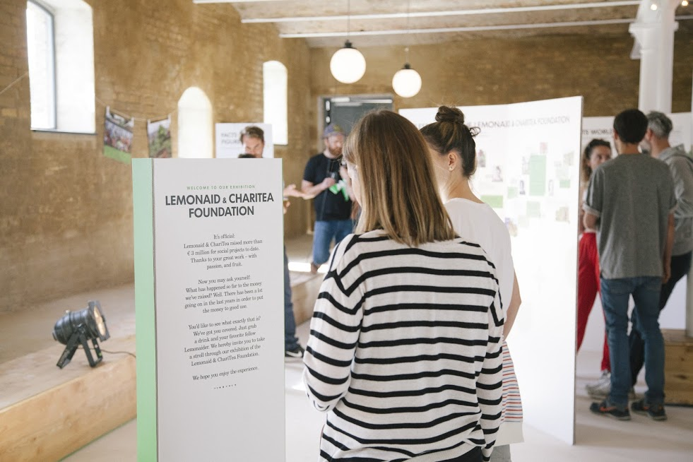 The first exhibition of the Lemonaid & ChariTea Foundation