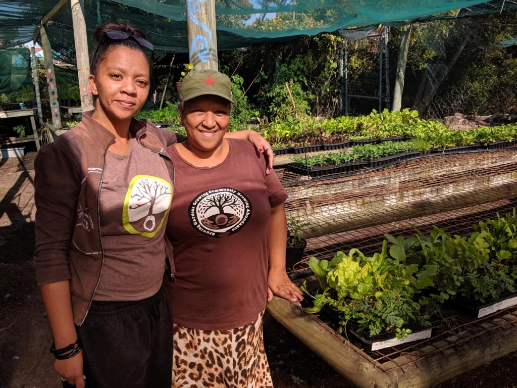 Teilnehmenerinnen aus dem Seeding Futures Permakultur Programm